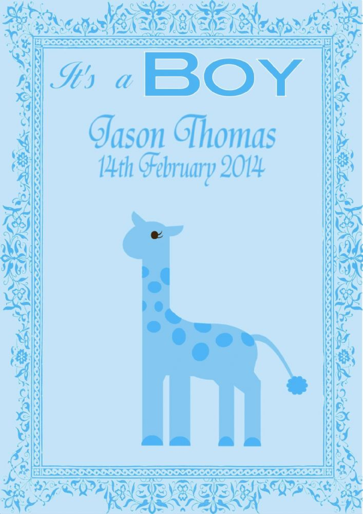 Personalised New Baby Boy Card Design 6